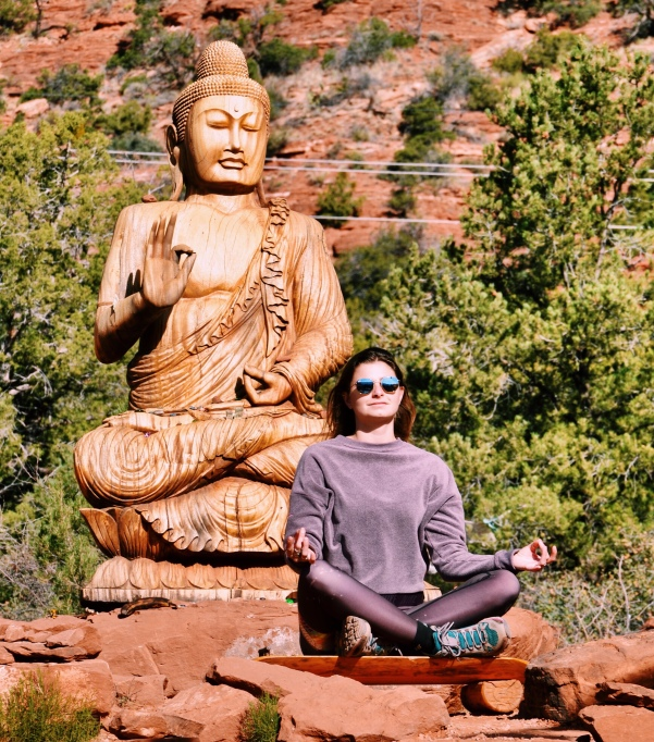 Meditating with the Buddha